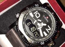 ساعة naviforce  جديدة بعلبتها ما انفتحت، و كفالتها لسّا شغالة لون بُنّي سعر نهائي: 30 دينار