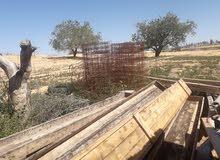 حبابيل وقرامد خشب طول 4م مستعمل
