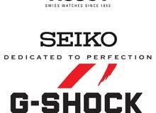 ساعات Seiko, Fossil, Casio, Relic, Timex, Tissot أصلية بأسعار منافسة