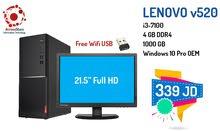 لينوفو Lenovo V520 i3 مع شاشة 21.5 HD