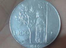 100ليرة ايطالي 1969
