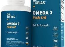 Fish Oil 180 pieces Triple Strength Dr. Tobias Omega 3 Fish Oil