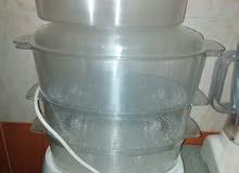 جهاز منيتا طهي بالبخار أرز خضار لحوم دجاج سمك