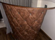 brown leather bar