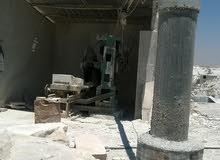 منشار حجر مع مصنع طوب
