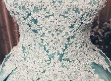 بدلة خطوبة اللون الفيروزي وارد تركي