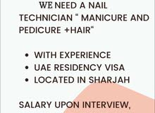 we need nails technicians for our saloon based in Sharjah