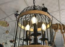 ثرياء مشب، تراثية، عش العصفور، لمبات LED