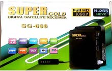 رسيفر سوبر جولد 666 HD استعمال خفيف للبيع او للبدل برسيفر بث ارضي