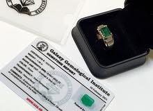 Emerald Ring With Certificate  خاتم الزمرد مع الشهادة