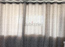 Curtains 4 panels with rods for sale