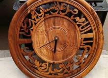 ساعة حائطية من خشب الروكو