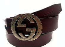 Gucci Brown Leather Belt For Men