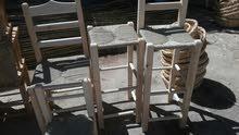 الواح قصب وكراسي قش