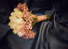 اجمل مسكه  لعروسه ....سحر الورد التوليب لا يقاوم  السعر على الخاص  يوجد خد
