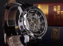 ساعة جلدية  التلقائية الميكانيكية الفولاذ المقاوم للصدأ