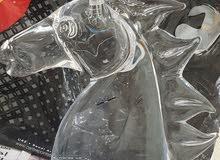 مجسم رأس حصان كريستال أصلي
