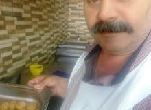 طباخ عربي ومعلم حمص فول فلافل خبرة 30 عاما