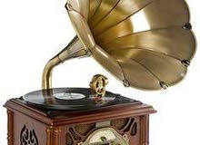 Gramophone Classique Rétro phonographe USB/CD Bluetooth Jouer Radio Corne de cui