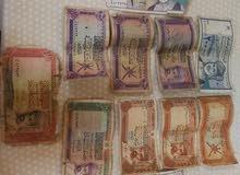 مبالغ نقدية قديمة عمانية واجنبيه للبيع فقط