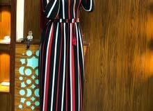 فستان نسائي مقلم