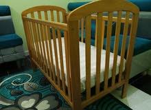 سرير أطفال خشب زان