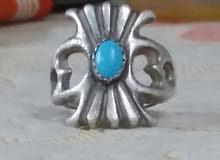 خاتم فضة بحجر الفيروز