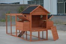 بيت خشبي للدجاج من الخشب الطبيعي