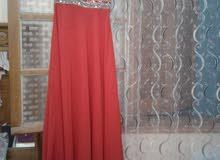 فستان احمر فولار للتصديرة