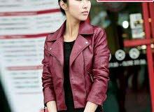 jacket pu cuir femmes