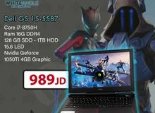 لابتوب Dell 5587 i7 8700 HQ. GTX 1050 ti