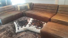 High quality Leather Sitting Area L Shape Sofa from Marina