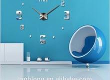 ساعة حائط جميله لاصقه