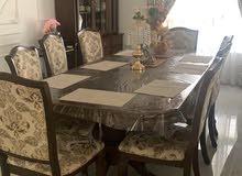 طاولة طعام مع البوفيه 8 مقاعد