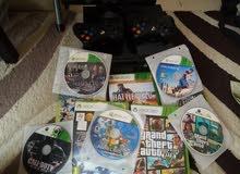 اكس بوكس 360 في حاله جيده جدا مع 12 سيديه وكنترولرز Xbox 360with 11 video games