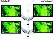 Ergonomic Multiple 4 Monitor Arm Stand