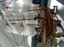 سفن خشبية مجسمة للبيع