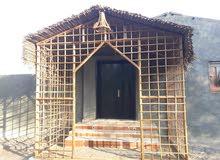 بناء وتركيب  خامات النخله المحليه