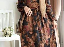 فستان قماش شمواه ناعم السعر 35 الف القياسات من 38 الى 44