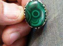 Fascinating Silver Malachite Ring - rarities