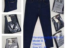 جينز مستورد كلاسيك رجال خامة قطن 100% Size. 32 : 46 Model : B. K الثري :10 قطع ا