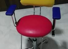 كرسي حلاق وكرسي انتظار وكرسي للأطفال للبيع