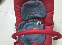 كرسي طفل هزاز بالاضافه الى عربة طفل