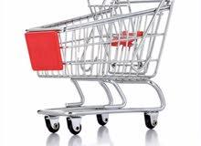 عربات تسوق للسوبر ماركت والاسواق عدد 2 عربة كما موضح في الصور اعلاة
