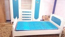 غرفه نوم شبابي خزاته+تخت+فرشه زمبرك فرديه