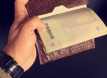 wallet leather passport