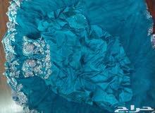 فستان ملكه او شبكه مع الجيبونا لون البحر
