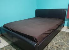 170 Lether Frame Bed with mattress