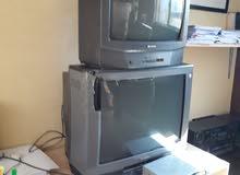 تلفزيون عدد 2 مستعمل وشغالين مع رسيفر مستعمل