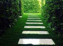 تنسيق حدائق بالعشب الجداري0563673229